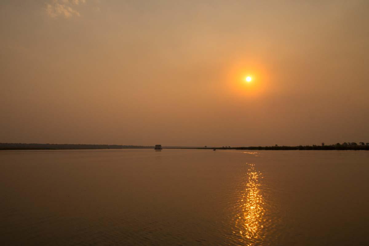 Sonnenuntergang über dem Chobe River