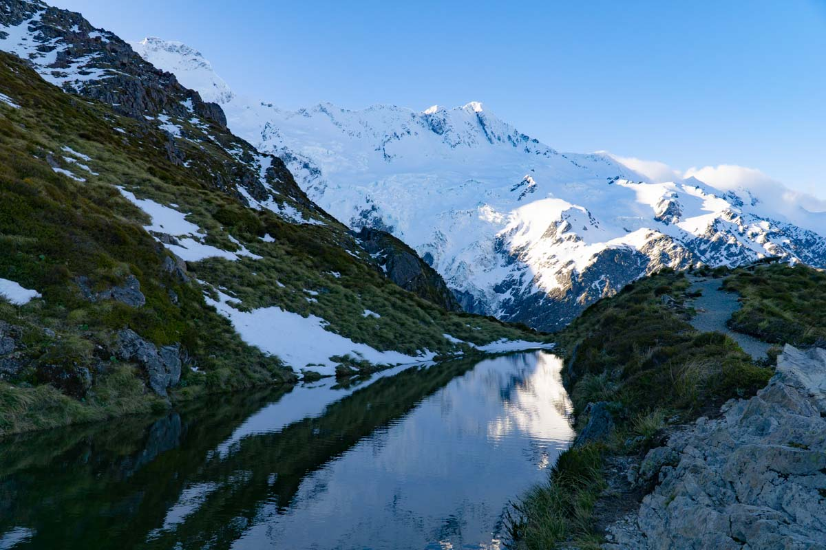 See am Sealy Tarns Track in Neuseeland