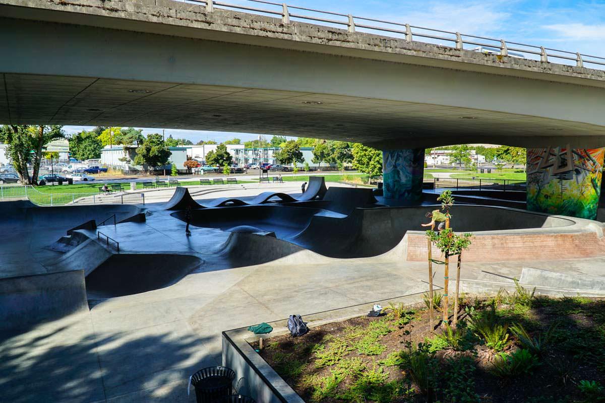 Skatepark in Eugene (Oregon Coast)