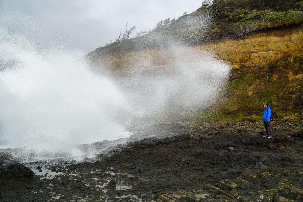 Wellenbrecher am Cape Perpetua (Oregon Coast)