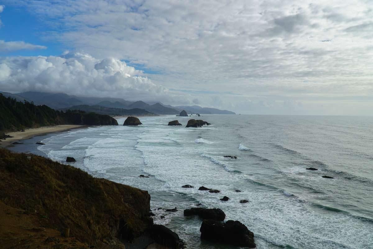 Aussicht vom Ecola State Park über die Oregon Coast