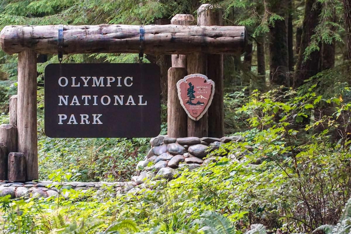 Eingangsschild zum Olympic-Nationalpark