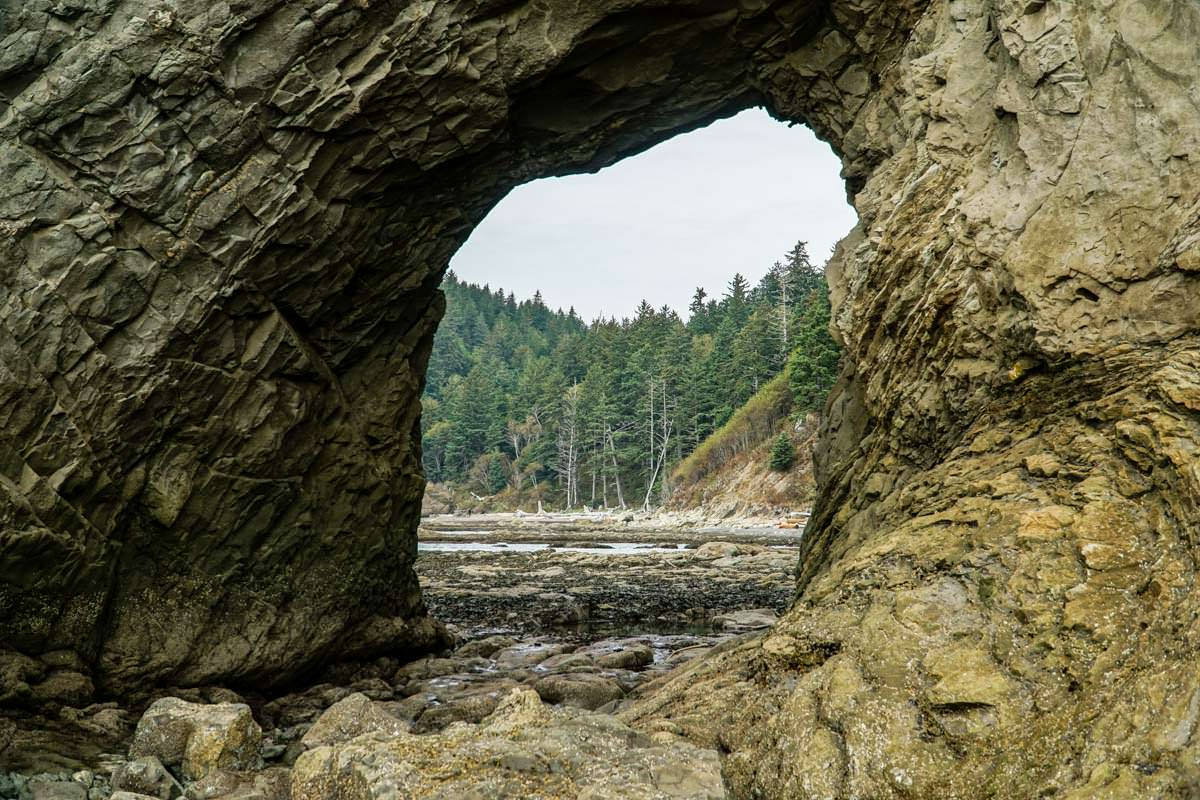 Hole-in-the-Wall am Rialto Beach (Olympic Nationalpark)