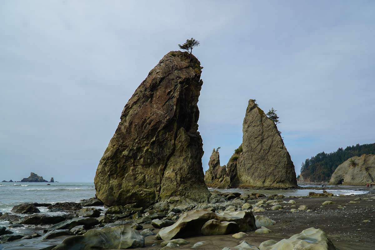 Hole-in-the-Wall am Rialto Beach im Olympic Nationalpark