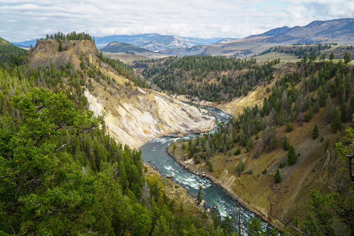 Yellowstone River am Tower Fall