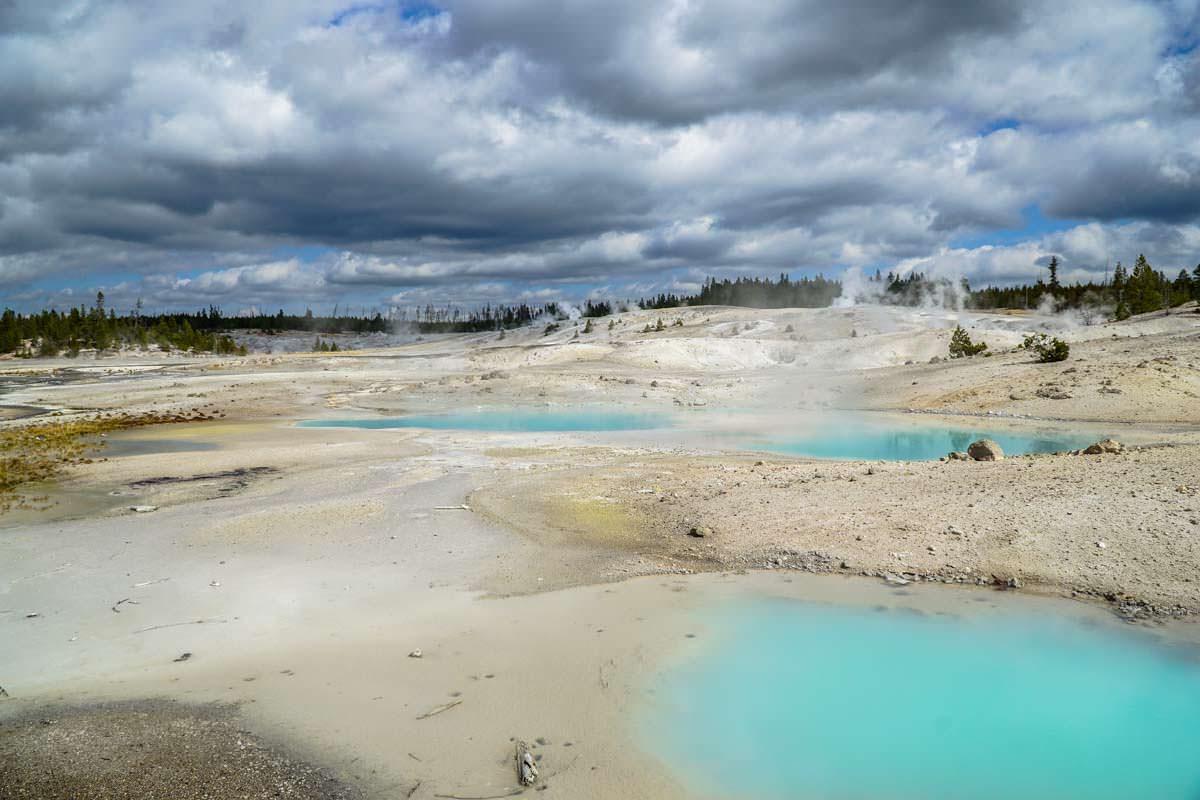 Porcelain Basin (Norris Geysir Basin im Yellowstone NP)