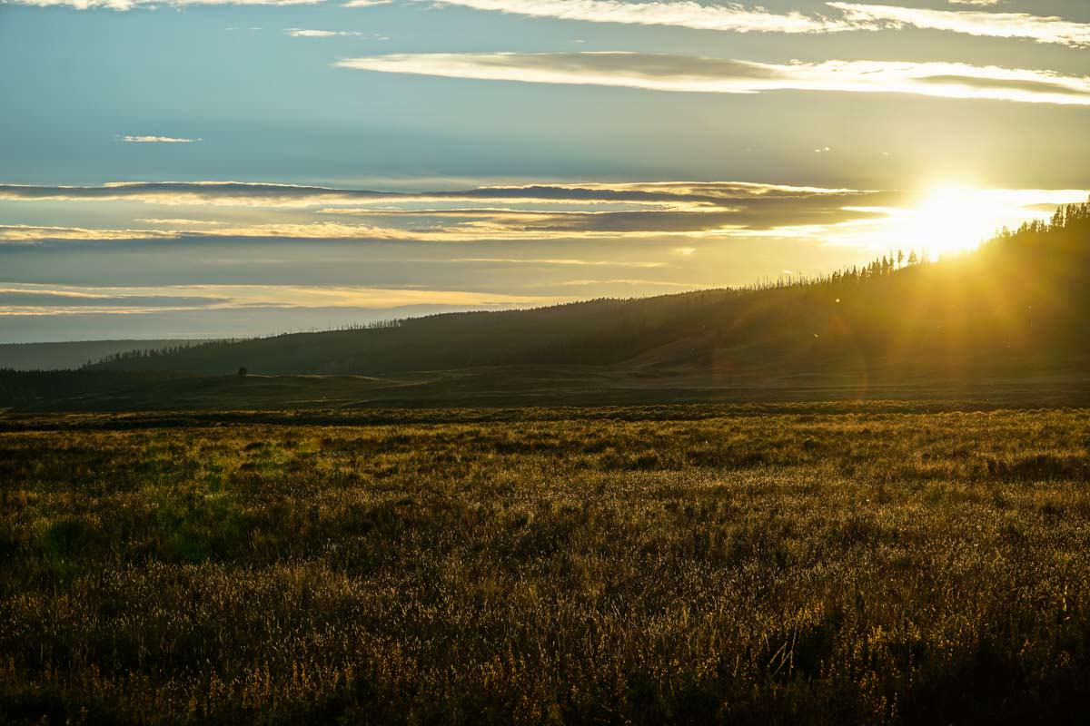 Sonnenuntergang im Yellowstone Nationalpark
