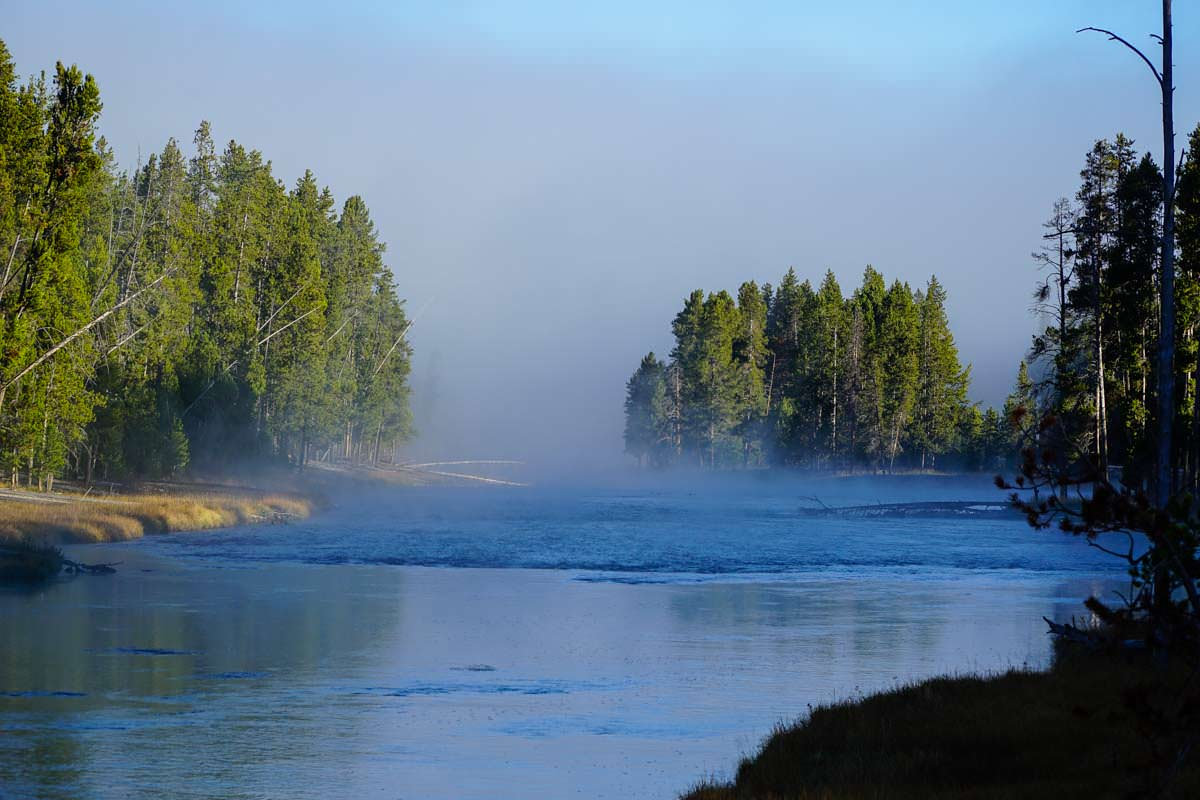 Firehole River im Yellowstone NP
