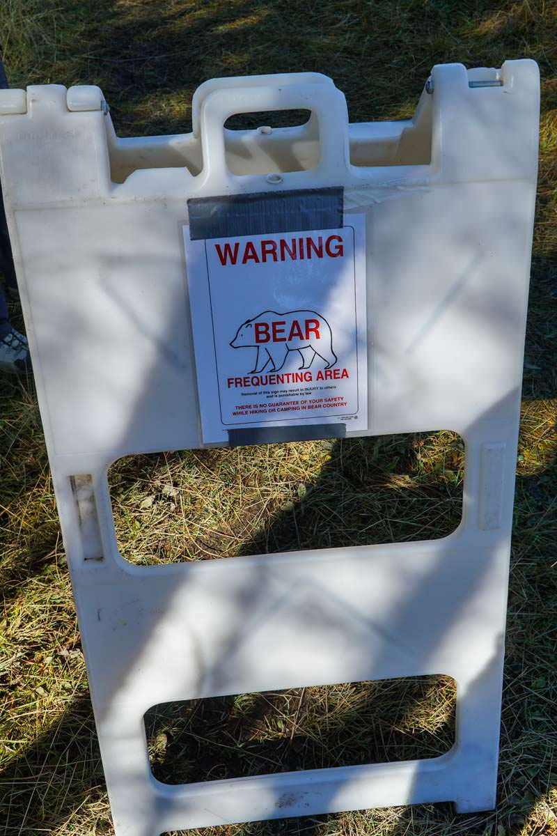 Bären-Warnschild im Yellowstone NP