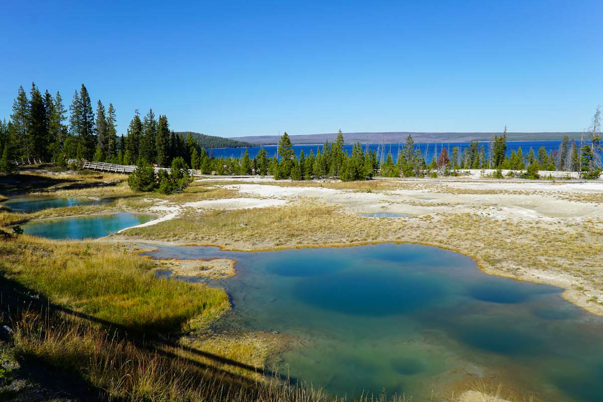 West Thumb Geysir Basin im Yellowstone NP