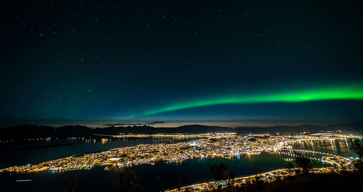 Nordlichter über Tromso (Storsteinen, Norwegen)