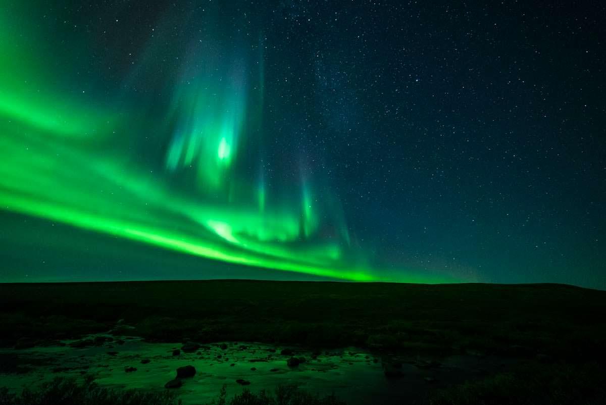 Nordlichter über der Finnmark (Norwegen)