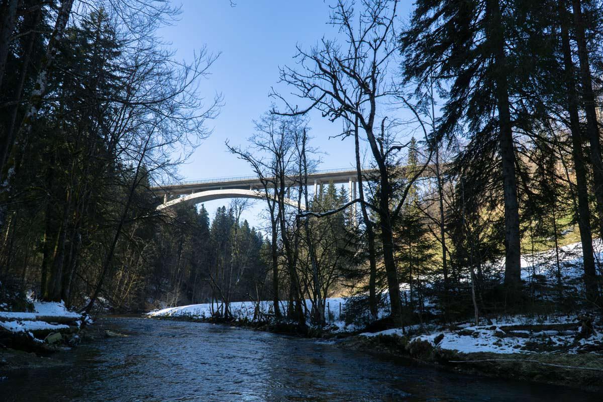 Argentobelbrücke im Eistobel
