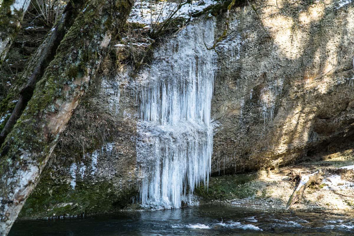 Eisvorhang am Eistobel (Allgäu)