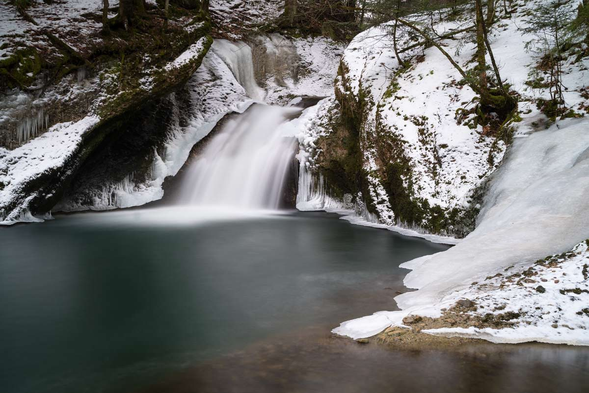 Wasserfall am Eissteg (Winter im Eistobel)