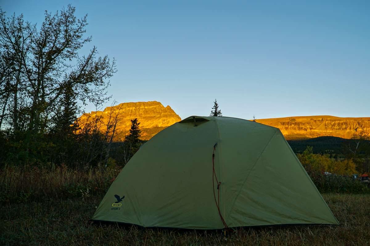 Tipps zum Zelten: der St. Mary Campsite im Glacier Nationalpark