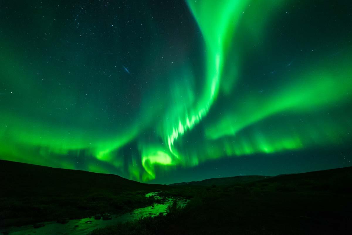 Nordlichter auf der Veines Halbinsel (Norwegen)