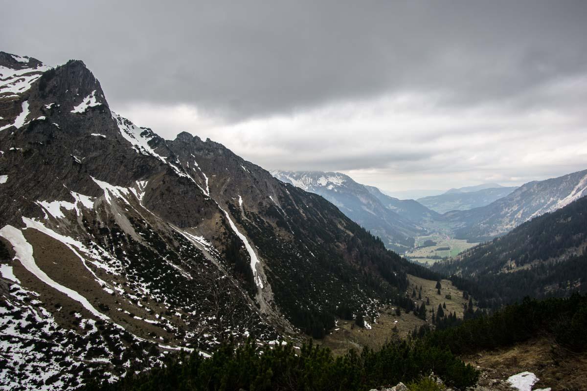 Blick ins Tal von Hinterstein vom Schrecksee
