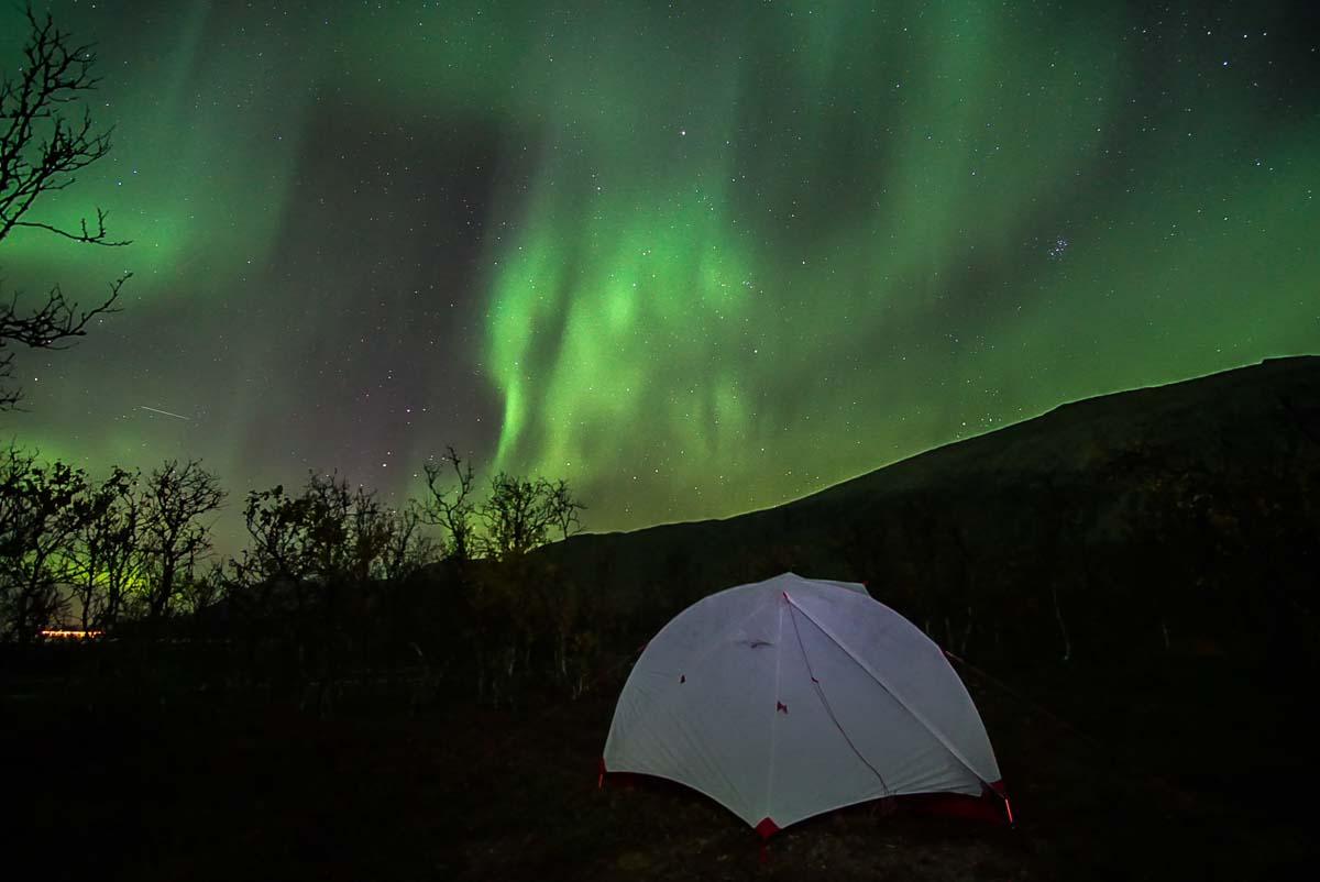 Nordlichter in den Lyngen Alpen (Norwegen)