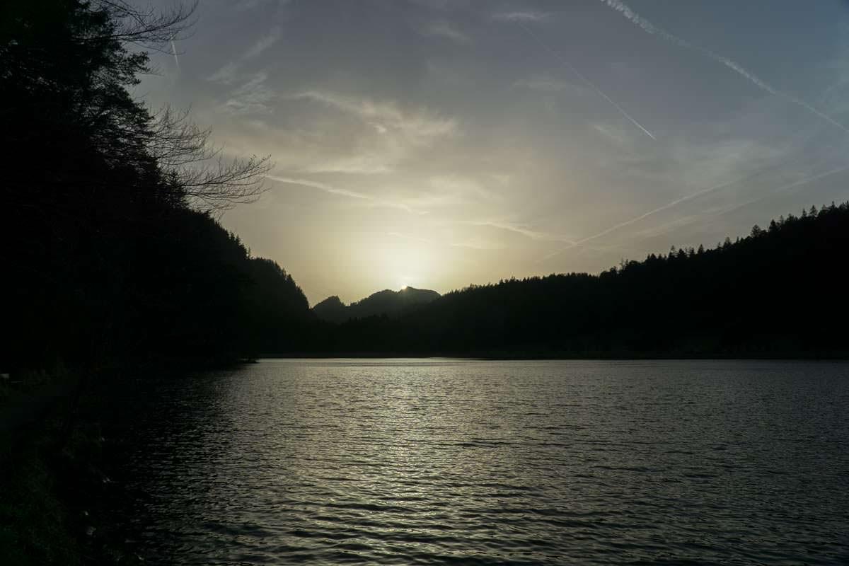 Obersee bei Sonnenuntergang