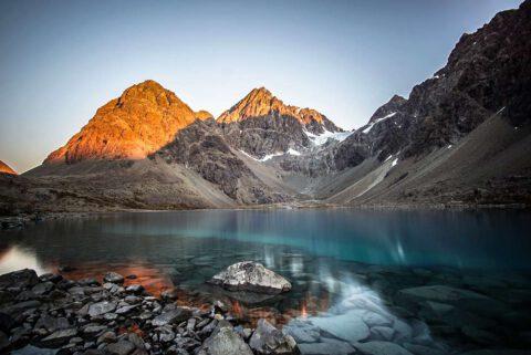 Blåvatnet (Blue Lake), Lyngenalpen