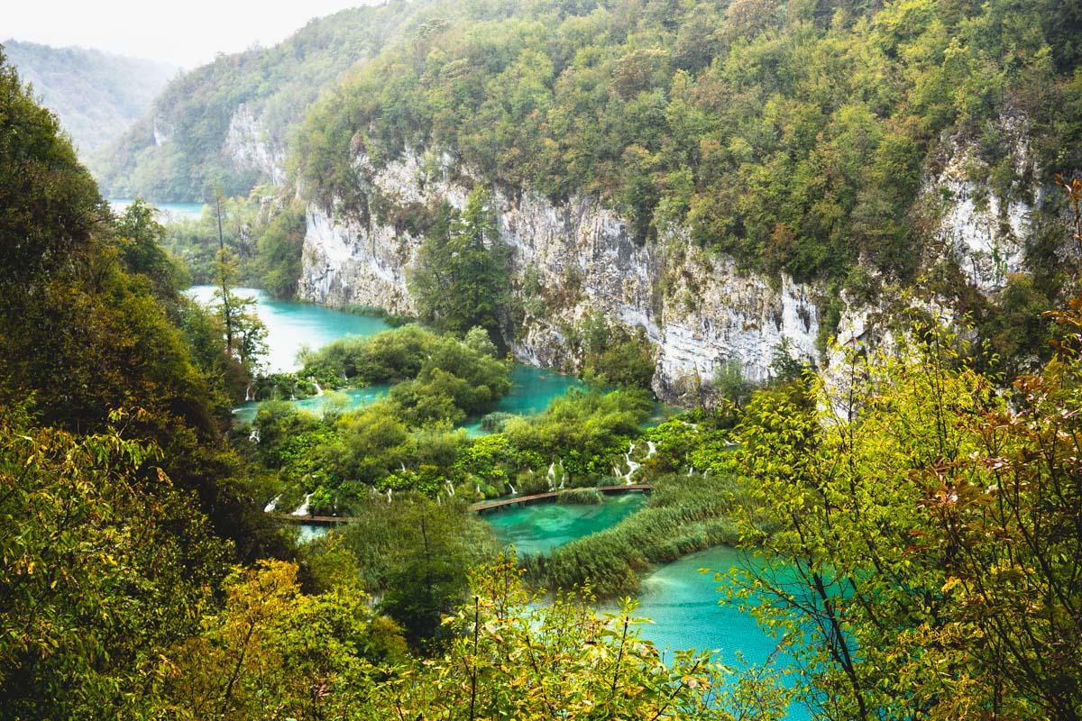 Die Unteren Seen im Nationalpark Plitvicer Seen