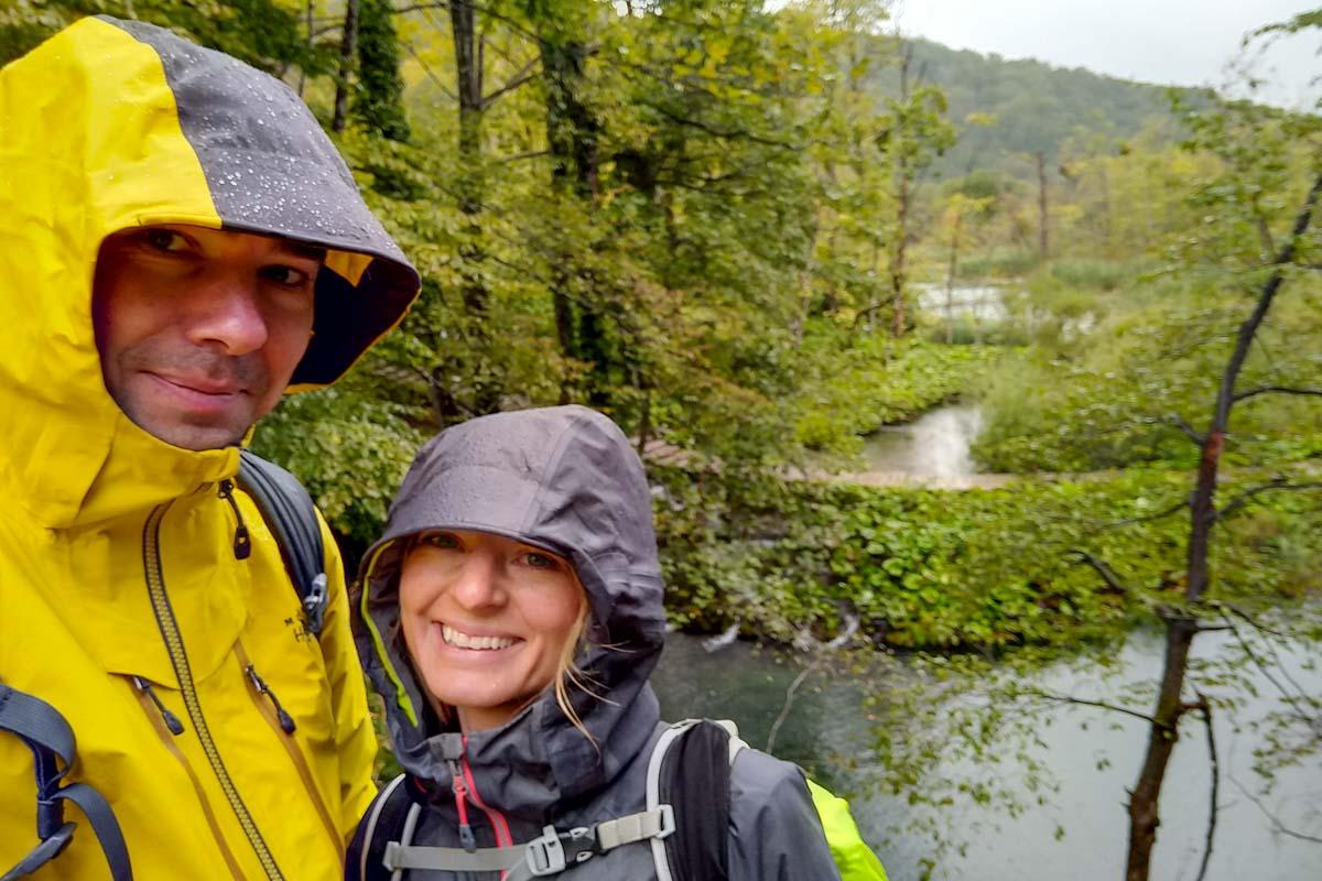 Pllitvicer Seen im Regen