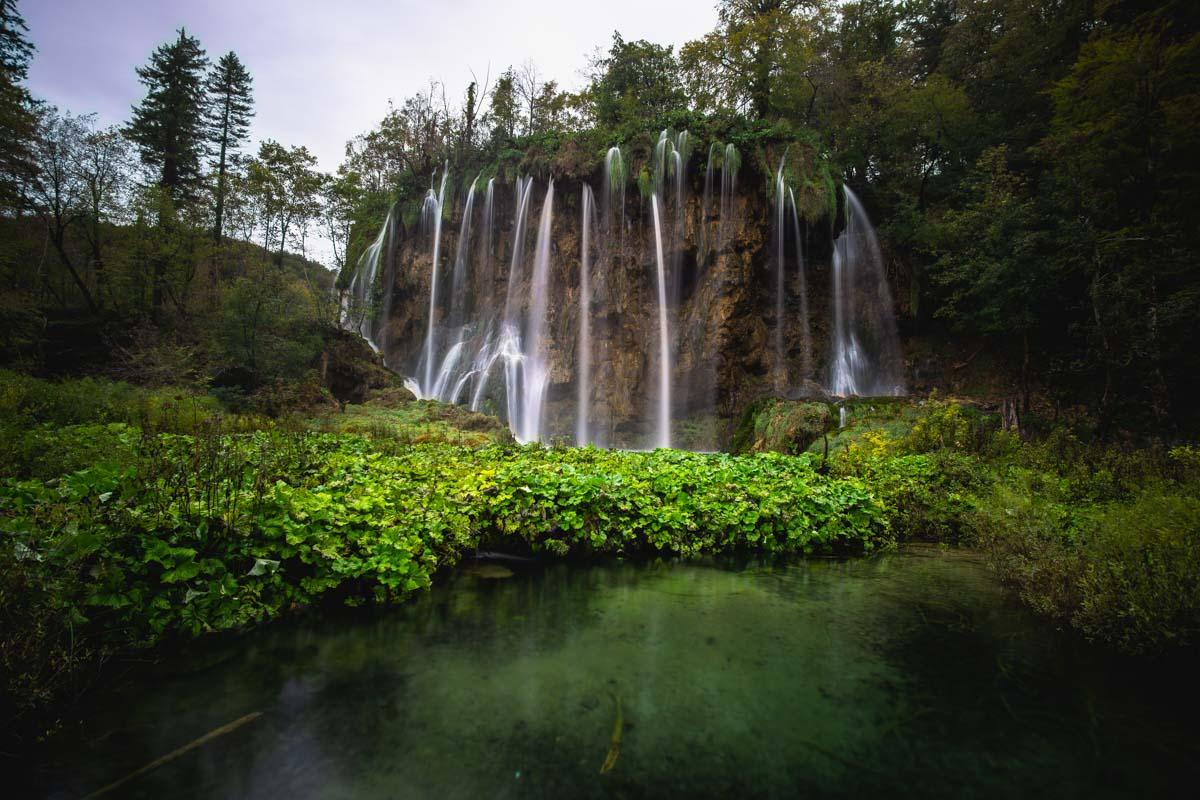 Wasserfall an den Oberen Seen im Nationalpark Plitvicer Seen