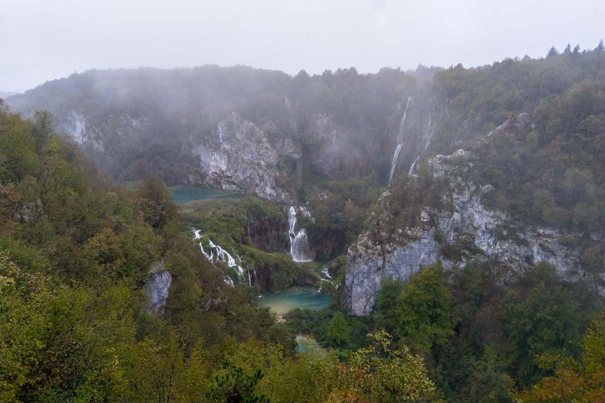 Blick auf den Großen Wasserfall (Veliki Slap)