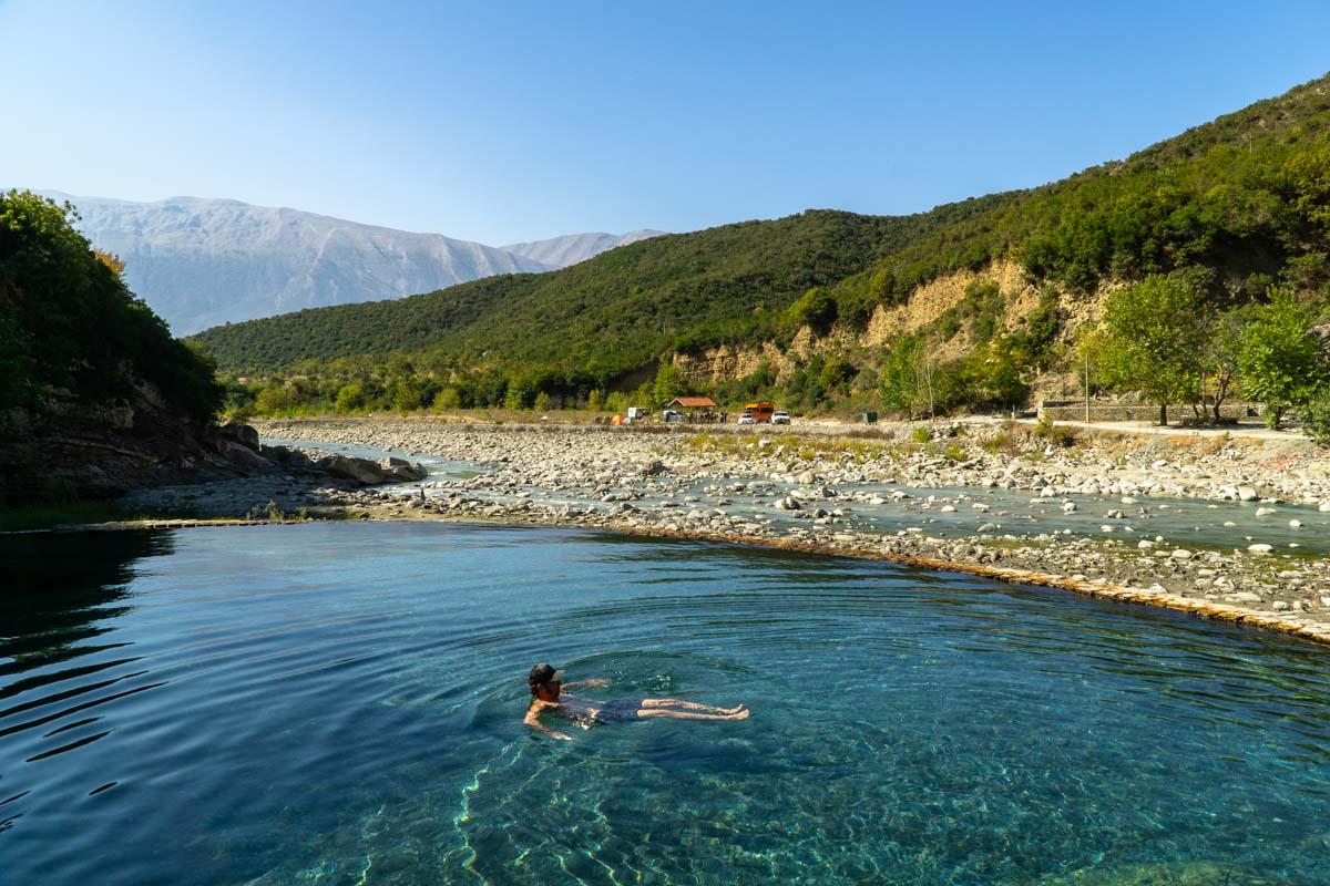 Thermalpools von Benja (Permet, Albanien)