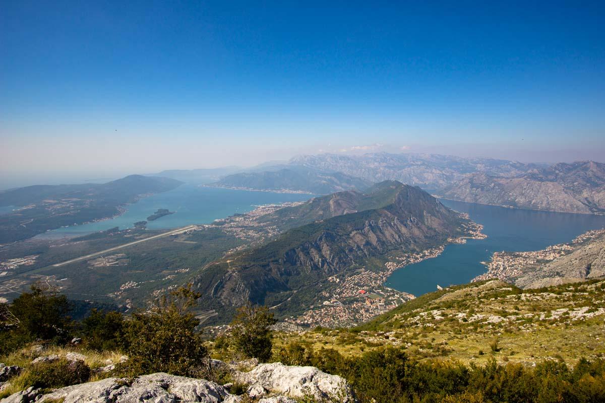 Bucht von Kotor von Oben (Montenegro)