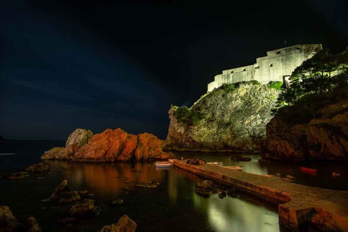 Festung Lovrijenac bei Nacht (Dubrovnik, Kroatien)