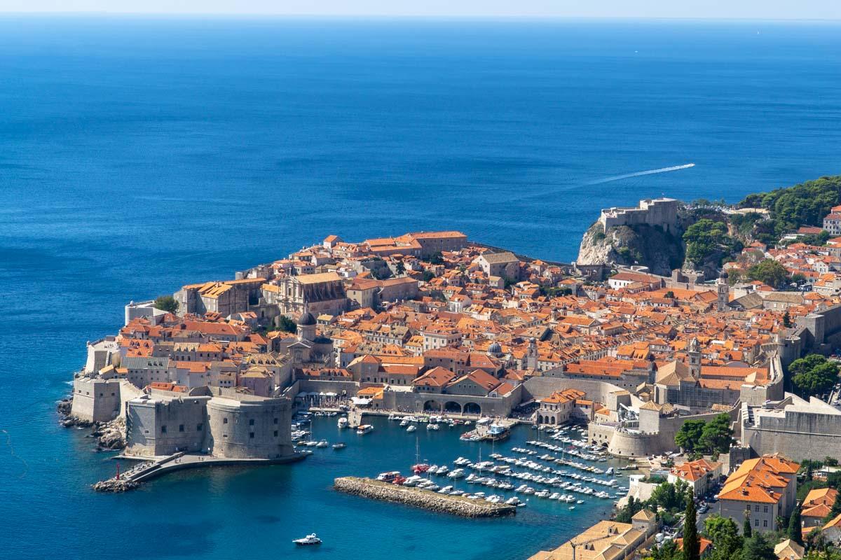 Altstadt von Dubrovnik von Oben (Kroatien)