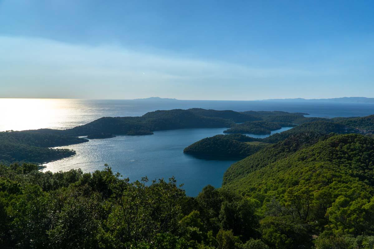 Aussicht vom Montokuc auf die Insel Mljet (Kroatien)