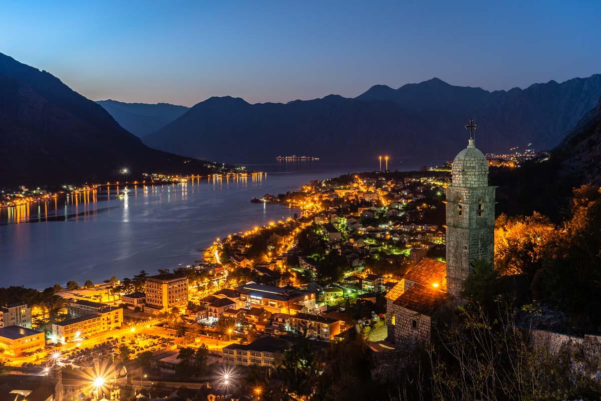 Blick von der Festung über Kotor (Kotor, Montenegro)