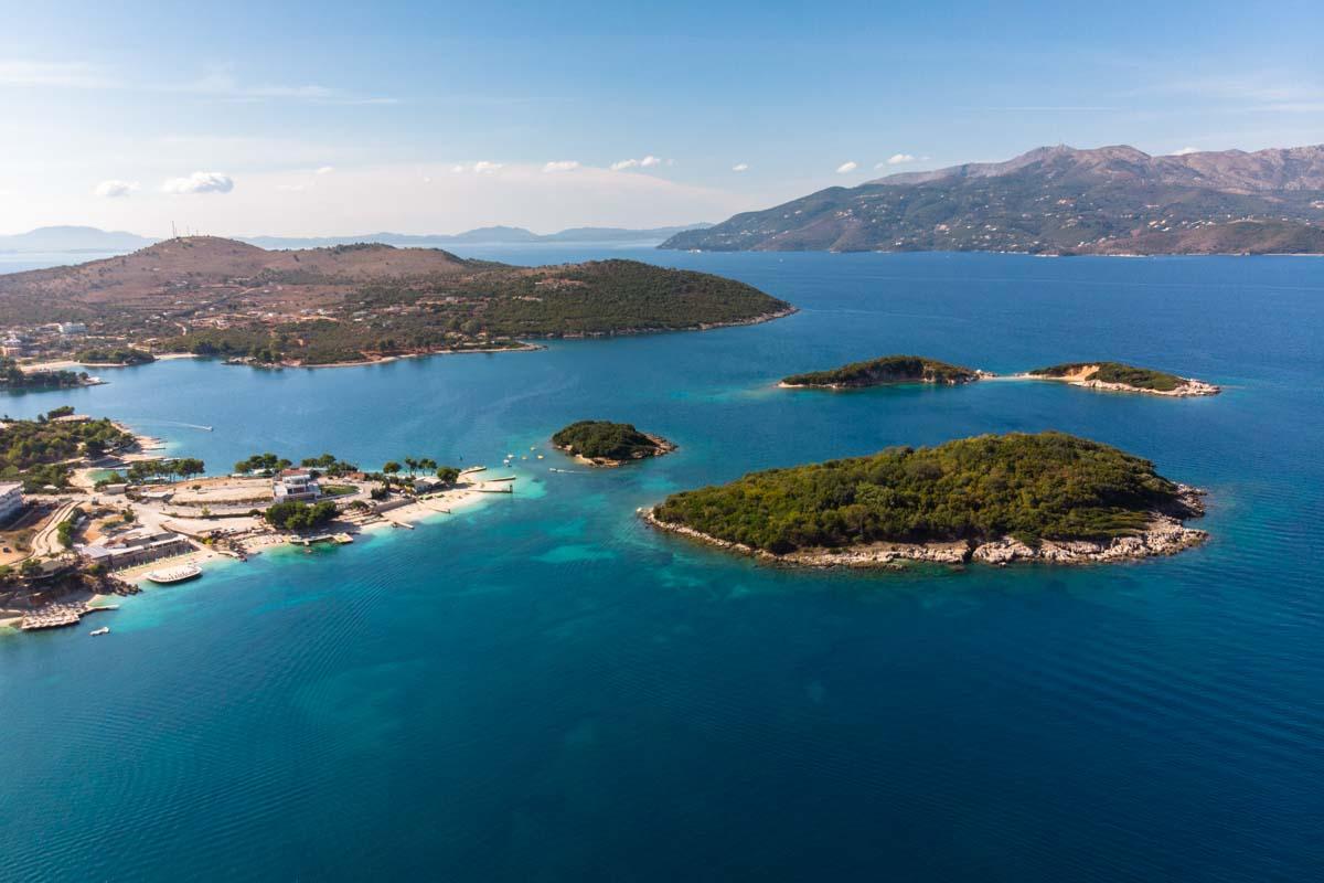 Ksamil Inseln von Oben (Albanien)