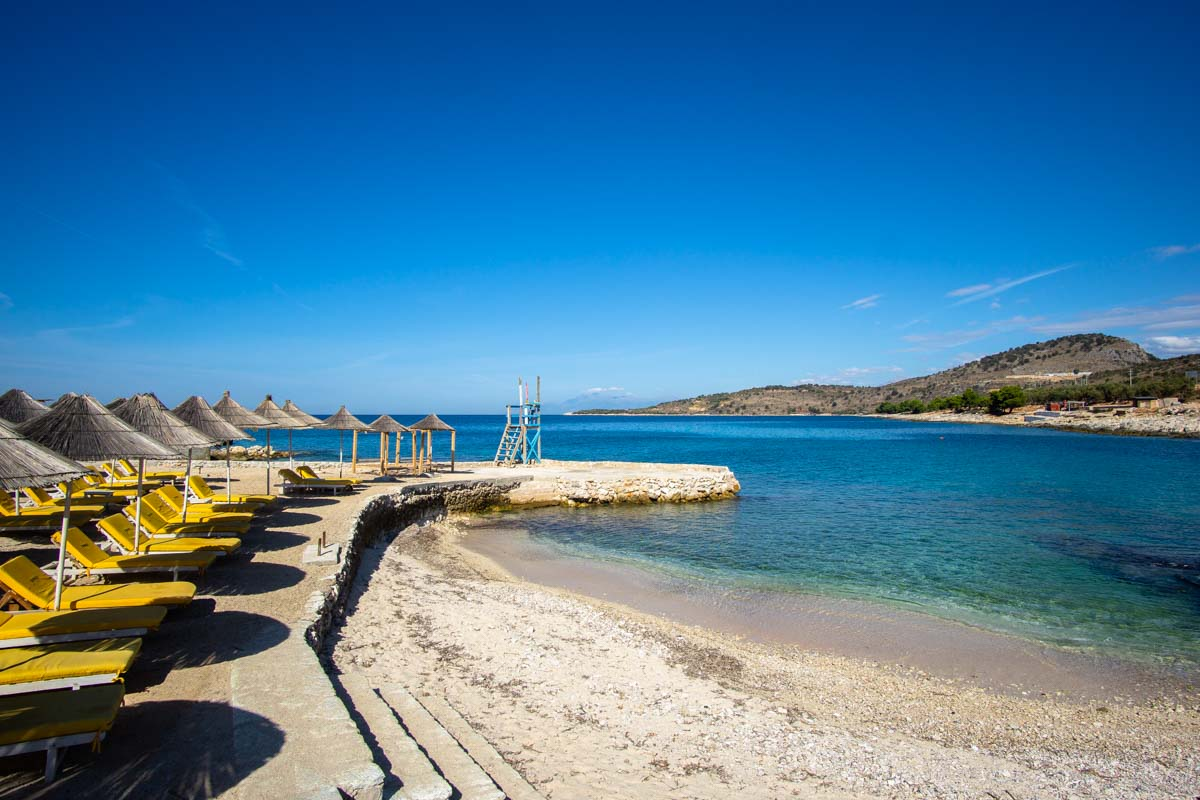 Strand von Ksamil (Albanien)