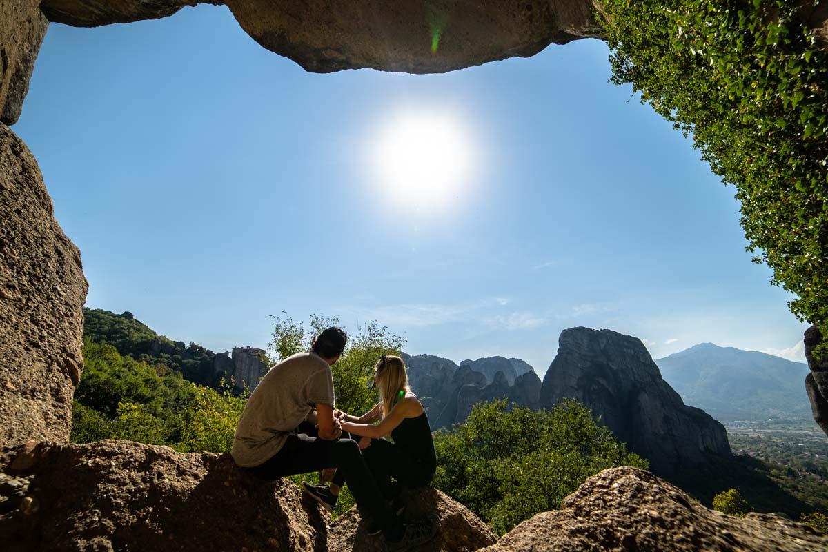 Höhle in Meteora (Kalambaka, Griechenland)
