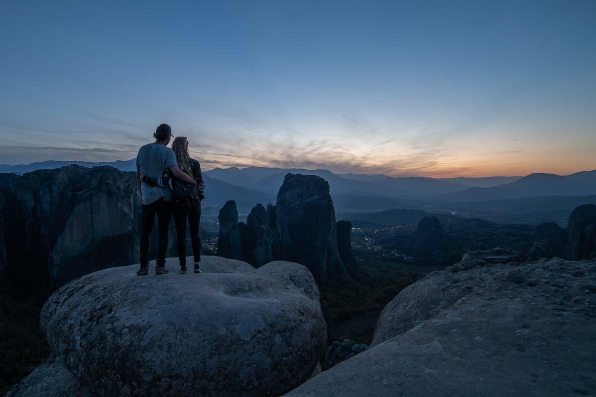 Blick über Meteora (Griechenland)