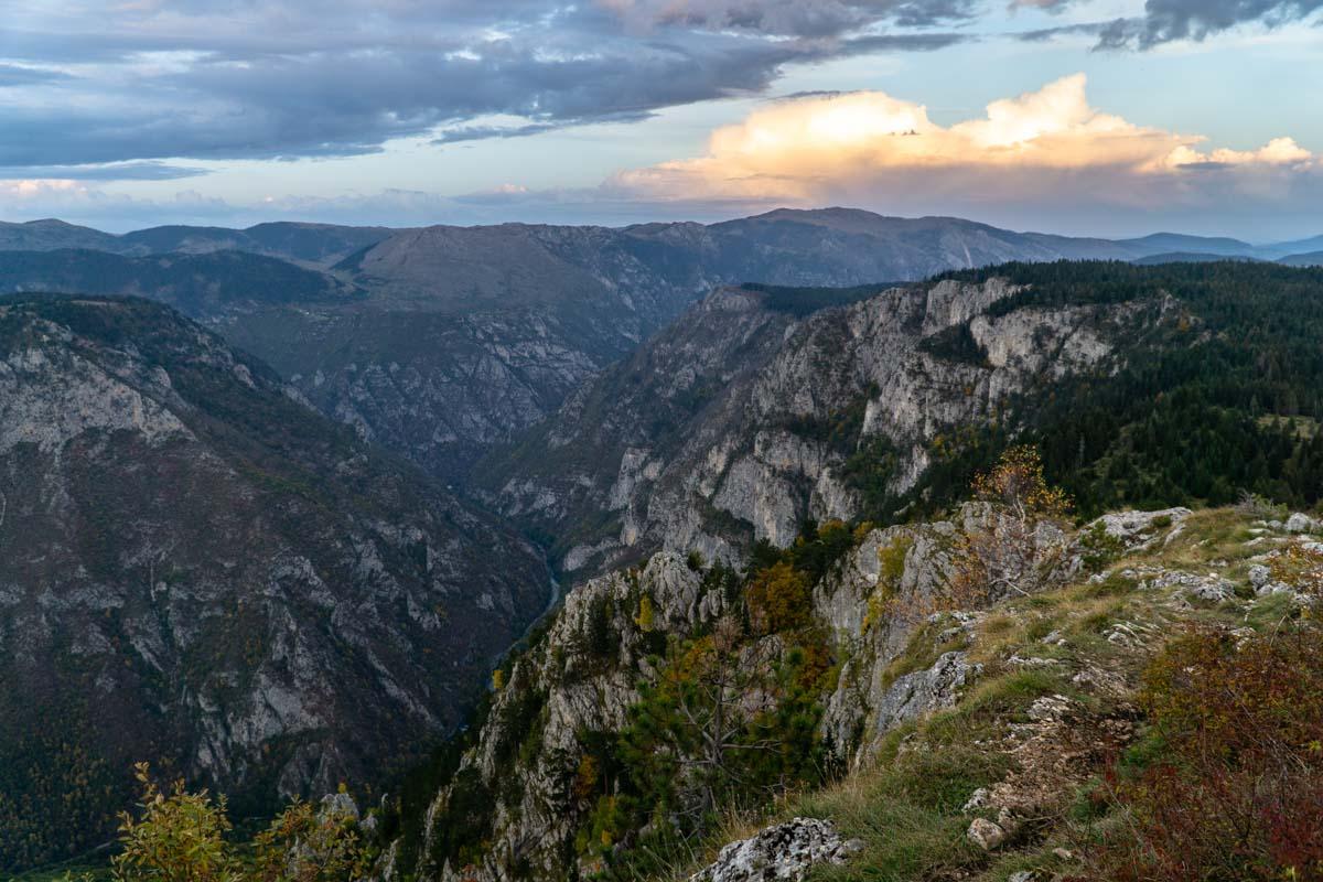 Aussichtspunkt Curevac mit Blick auf die Tara Schlucht (Montenegro)