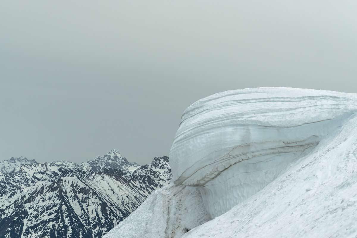 Schneewechte am Grünten