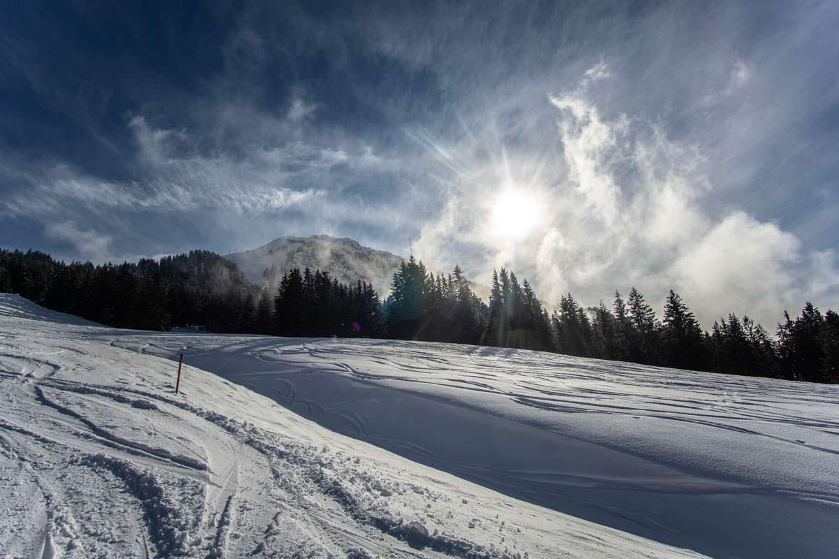 Ungespurte Hänge am Grünten sind ein Traum für Skitourengeher