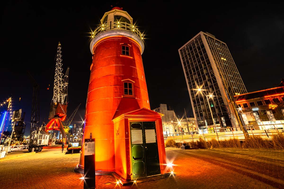 Leuchtturm am Maritiem Museum (Rotterdam)