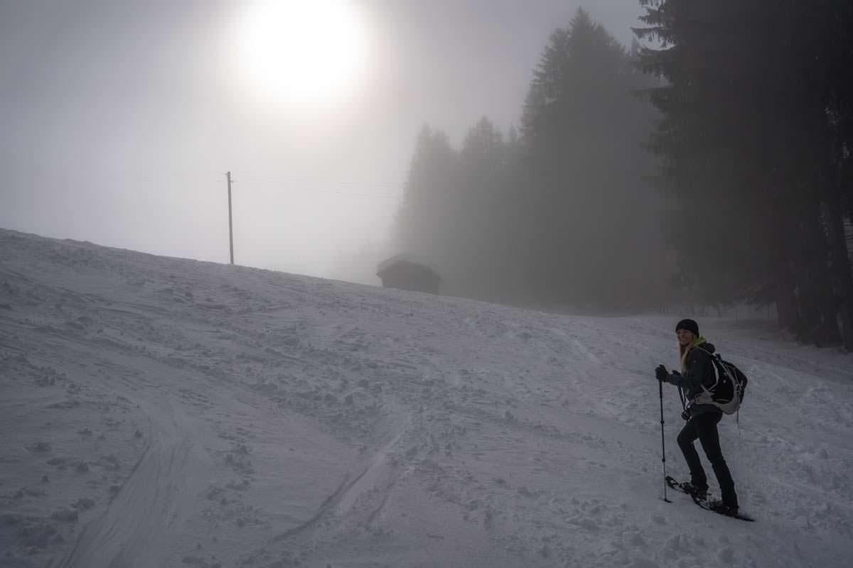 Schneeschuhwanderung auf den Grünten im Allgäu