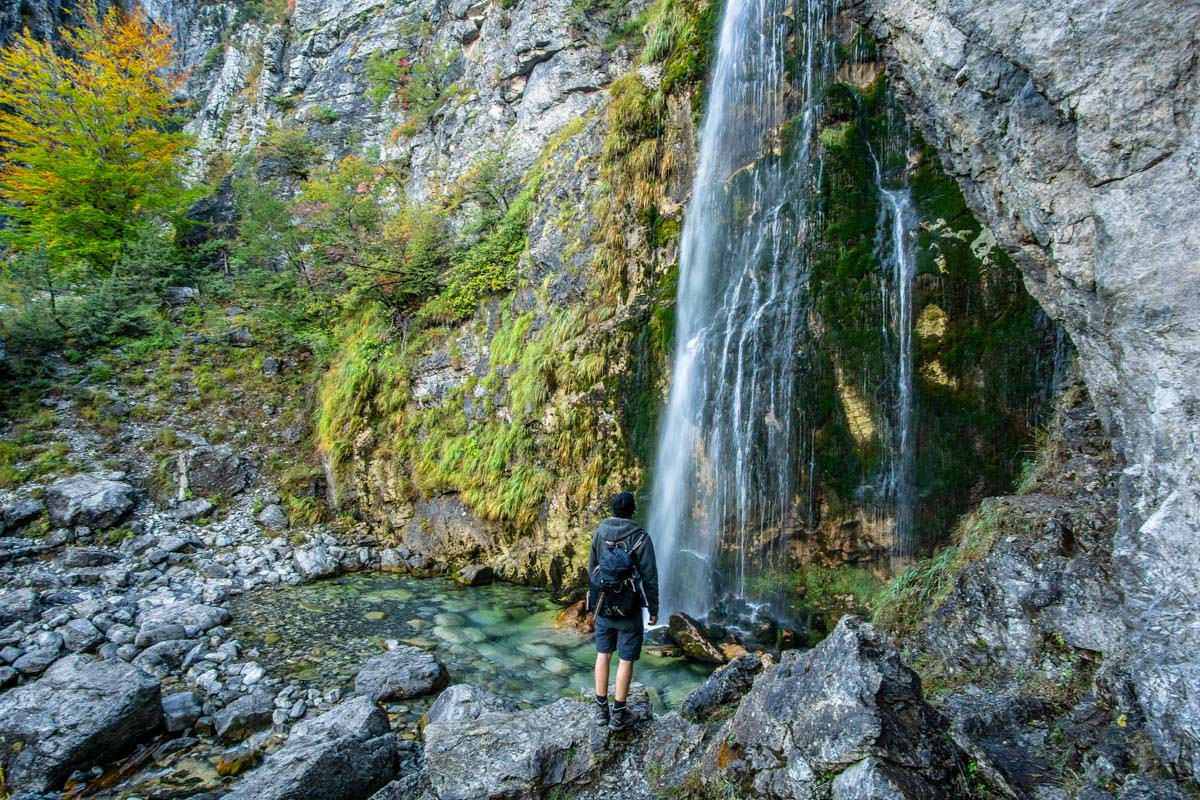 Grunas Wasserfall in Theth (Albanien)