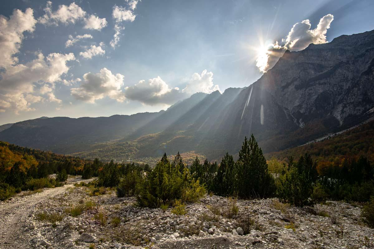 Sonnenuntergang in den Albanischen Alpen