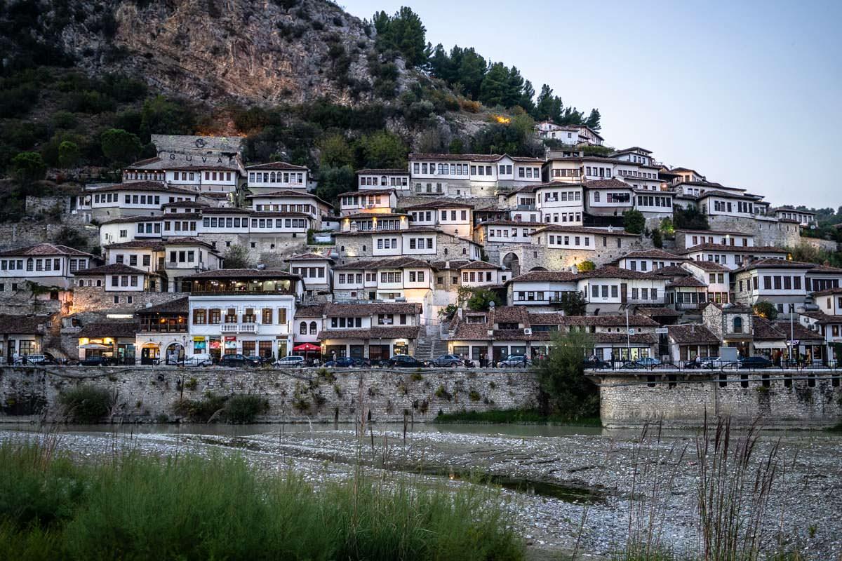Stadtviertel Mangalem in Berat