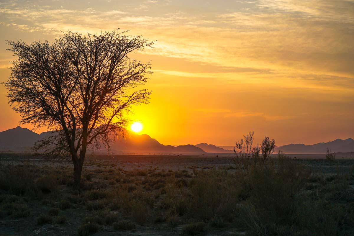 Sonnenaufgang in der Sossuvlei