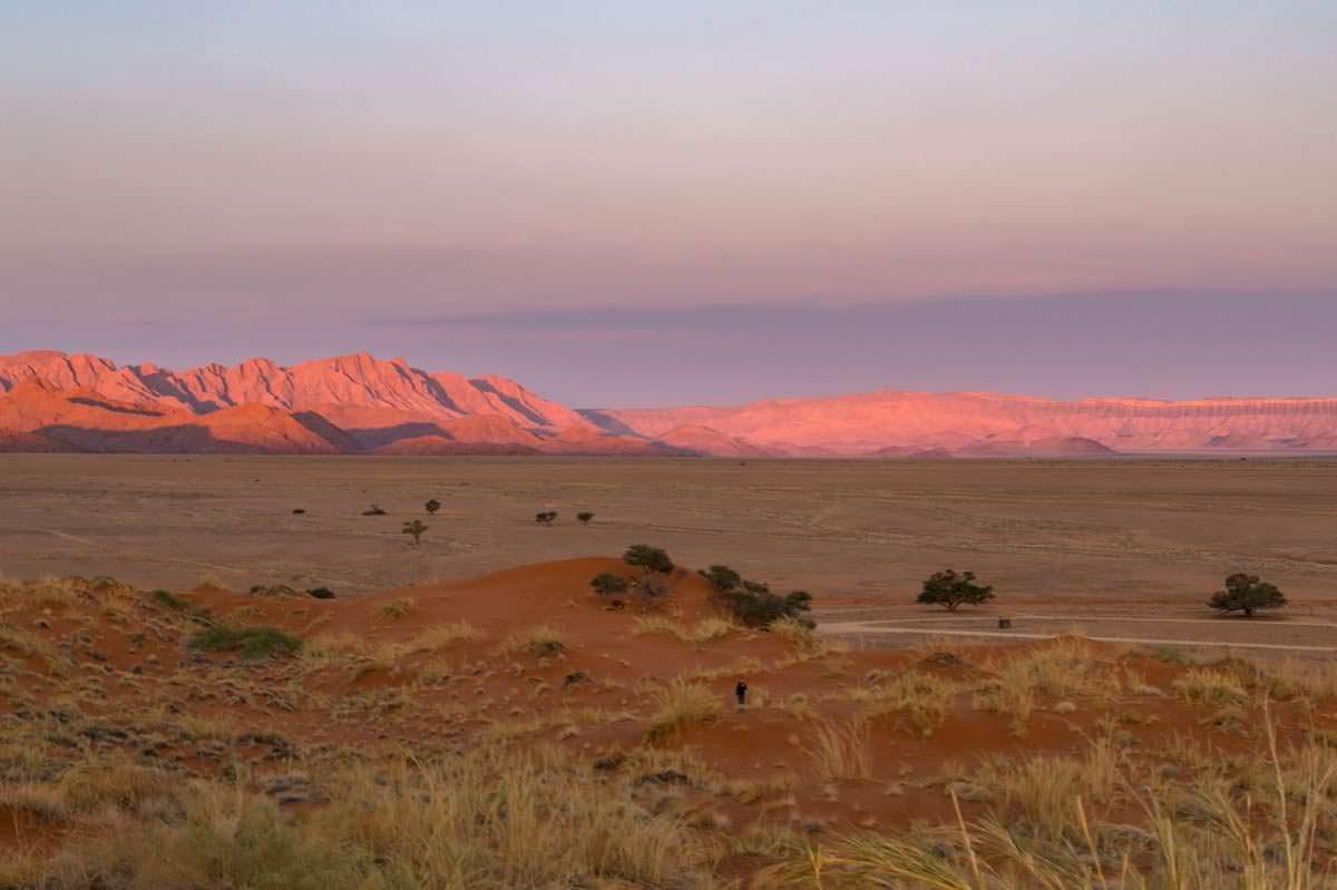 Sonnenuntergang an der Elim Düne (Sossuvlei)
