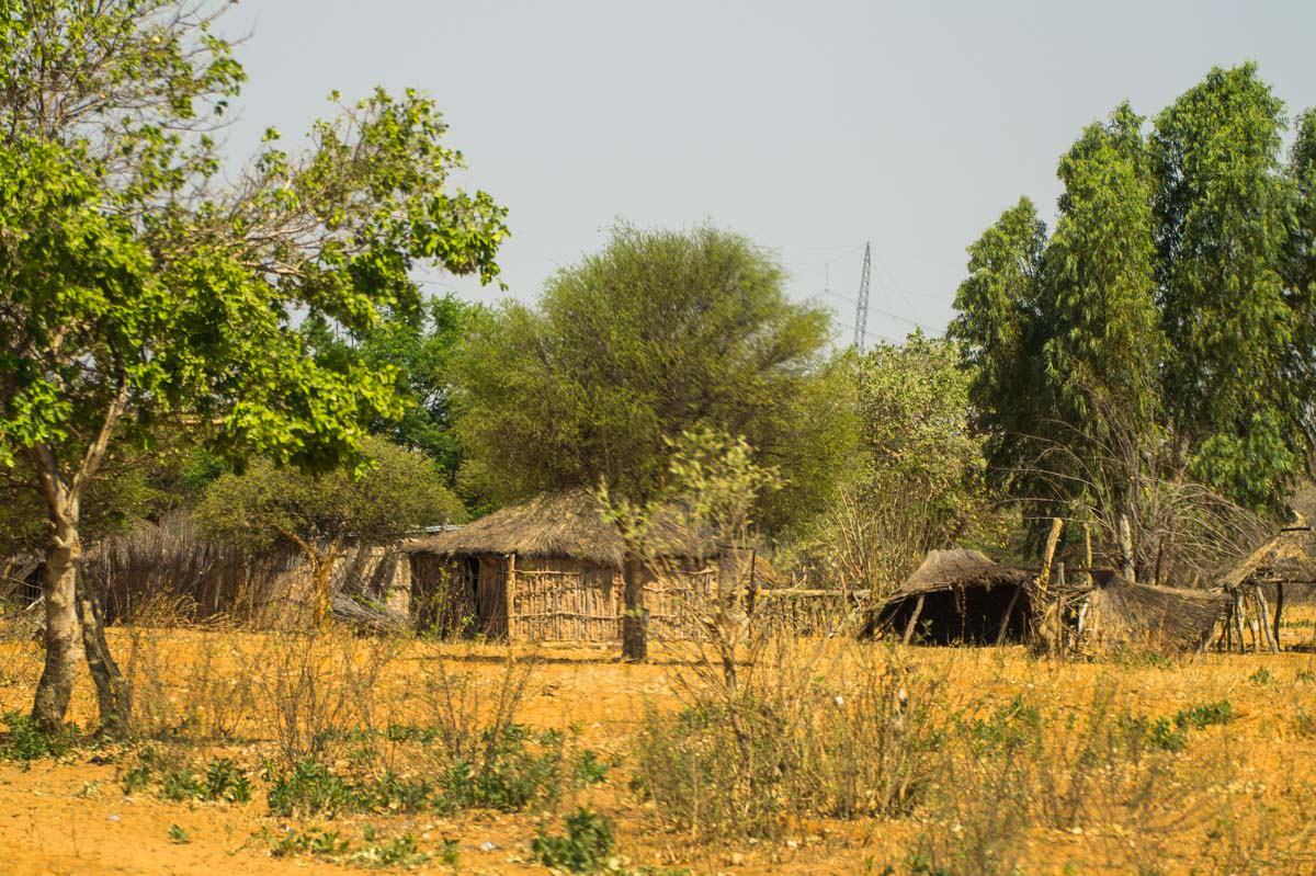 Hütten im Caprivi-Zipfel (Namibia)